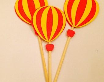 Hot Air Ballon Party Picks / Toppers