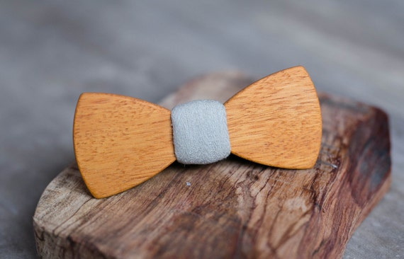 Wood bow tie, african wood bowtie. Wedding Gray Mens bowtie, Men tie. Gift for Husband, Brother, Valentines, Groomsmen gifts, Birthday gift.