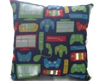 Various Gamer controller decorative pillow