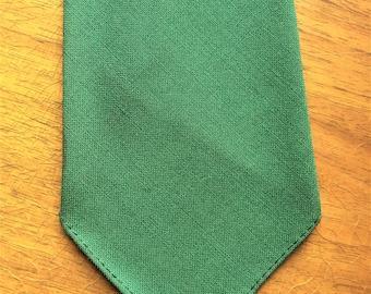 Vintage 30 Superba Cravats Ranger Solid Green Wool Tie