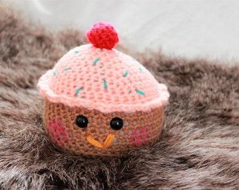 Pink Cupcake Plush, Cupcake Plushie, Stuffed Cupcake, Crochet Cupcake, Amigurumi Cupcake, Birthday Cupcake, Kawaii Cupcake, Kawaii Plushie
