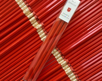 Duke Red Pencils, set of 9, Back to School Supplies, Gifts for him, Gifts for her, Preppy School Supplies