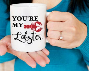 you're my lobster mug // Friends tv show // friends mug // friends tv show mug // lobster mug // ill be there for you // anniversary gift