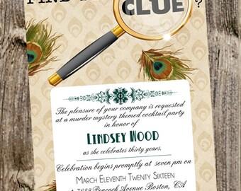 Birthday Invitation- Clue Themed party