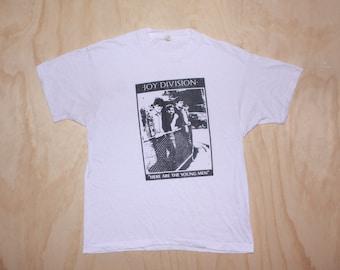 80s Joy Division Here Are The Young Men 1982 Album Tour Promo Post Punk T Shirt