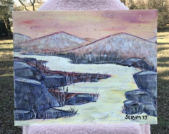 River Mountain Painting #1