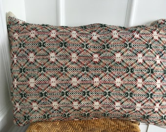 Vintage Mid Century Modern/ Hollywood Regency Geometric Design Huckweave Woven Pillow