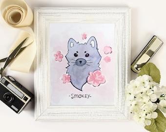 Custom Stylized Pet Watercolor Portrait