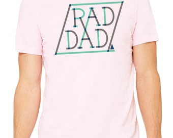 The Rad Dad Tee, t-shirt, dad shirt, t shirt, gift for dad, dad stuff, typography