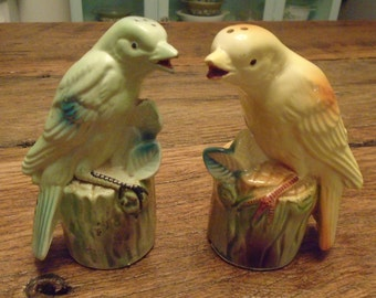 Vintage Bird Salt and Pepper Shakers