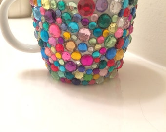Rhinestone Coffee Mug