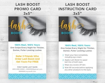 Rodan and Fields Lash Boost Cards | Customized Printable
