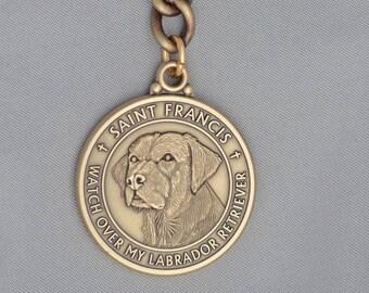 Labrador Retriever St. Francis Keychain