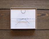 LAST ONE! Letterpress Elk Antler Stationery Set
