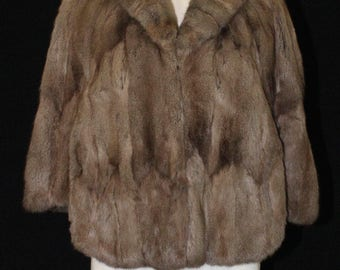 Vintage Overton's Heritage Fur Gray Brown Squirrel Cape Hollywood Glam Style