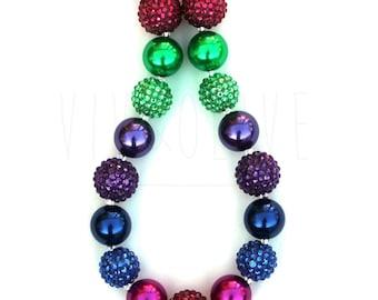 Chunky Necklace - Children's Necklace - Bubblegum Necklace - Kid's Jewelry - Kid's Necklace - Girl's Bubblegum Jewelry - Jewel Tone Necklace
