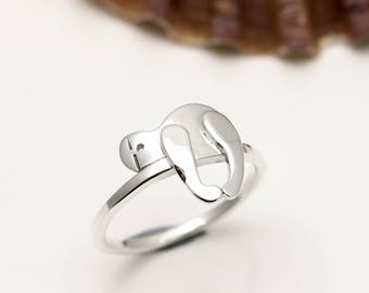 Sterling Silver Sloth Ring - Stacking Ring - Sloth Jewellery