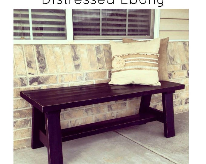 Cottage Bench - Wood Bench - Decorative Bench - Front Porch Bench - Entryway Bench - Dining Table Bench