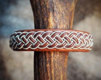 Sami Bracelet, Tenntrådsarmband, Swedish leather bracelet, Nordic jewelry