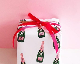 Bubbly Champagne Gift Wrap