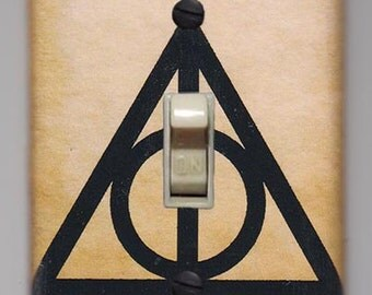 Harry Potter Light Switch Cover Plate - Lumos Nox Parchment Background