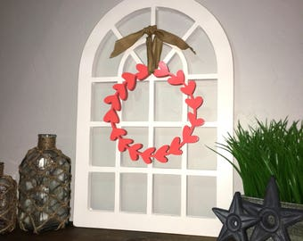 Mini Round Top Window Pane-Unfinished Wood Home Decor