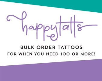bulk order temporary tattoos wholesale tattoos from your provided graphic logo tattoos choose your size and quantity large order tattoos