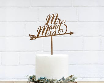 Mr and Mrs Wedding Cake Topper Customized Wedding Cake Topper, Personalized Cake Topper for Wedding, Custom Personalized Wedding Cake Topper