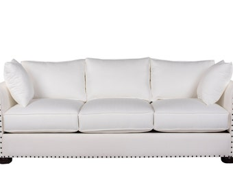 modern sofa sofa modern couch unique style nailheads rolled arms sofa high quality