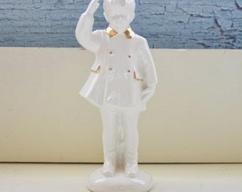 John F Kennedy Jr. Ceramic Figurine Atlantic Mold Co John John Saluting His Father JFK