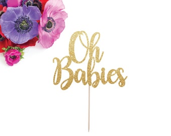 oh babies cake topper twin baby shower twin cake topper it 39 s twins