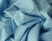 """BTY Vintage Cotton Tiny Blue Leaf Fabric 1950s 35"""" wide -B10"""