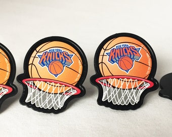 12 New York Knicks Cupcake Rings NBA Basketball Toppers Party Favors