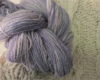 540 yards HAND SPUN WOOL yarn & glitz in all the beautiful shades of the ocean