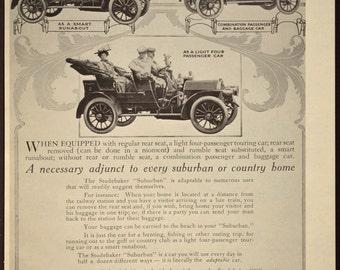 Antique Automobile Ad Advertisment Advertising Studebaker Car