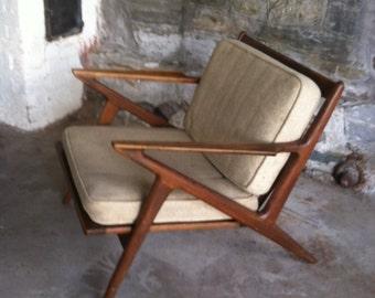 Z Lounge Chair Poul Jensen Selig Danish Modern Made in Denmark Scandinavian ModernTeakwood Mid Century Modern Vintage