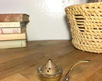 Brass Incense Burner // Hand-painted / Israel
