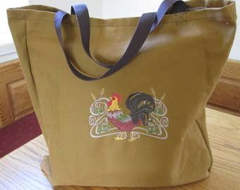 Rooster Reusable shopping bag