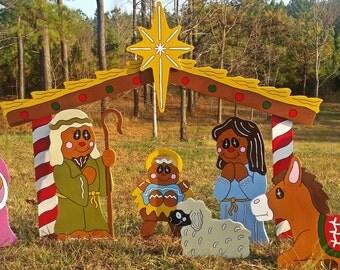 Gingerbread Nativity Scene | Nativity Yard Decoration