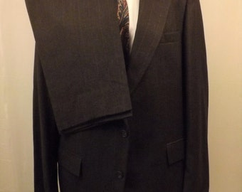 70s Vintage Harve Benard Mens Gray Wool Suit Size 42R