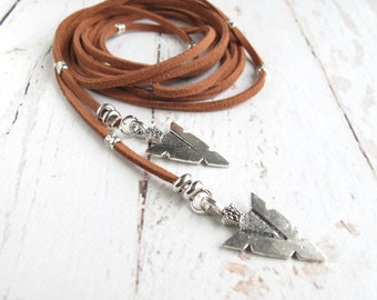 Leather Wrap Necklace-Leather Wrap Choker-Boho Leather Choker-Leather Necklaces for Women-Leather Choker-Leather Jewelry-Wrap Around Choker