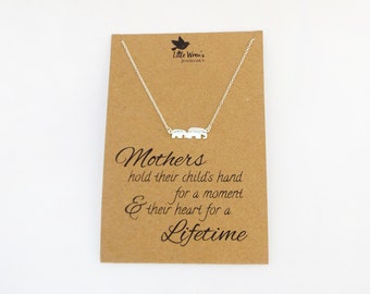 Elephant Necklace // Pregnancy Gift • Mother & Child • Gift for Mum • New Mum Gift • Baby Elephant Jewellery • Free Postage