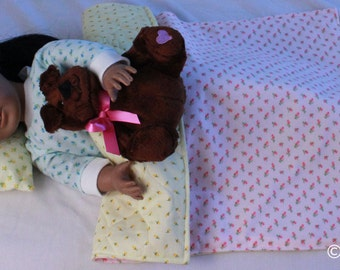American Girl Doll Blanket and Pillow