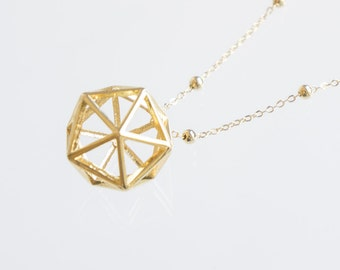 Geometric Necklace Minimal Necklace Modern Necklace Gold Necklace Girlfriend Gift Best Friend Gift Birthday Gift Geometric Jewelry
