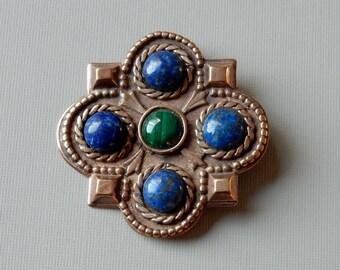 Frankish Pin with Lapis and Malachite