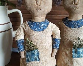 Cupboard Doll Primitive Folkart Epattern