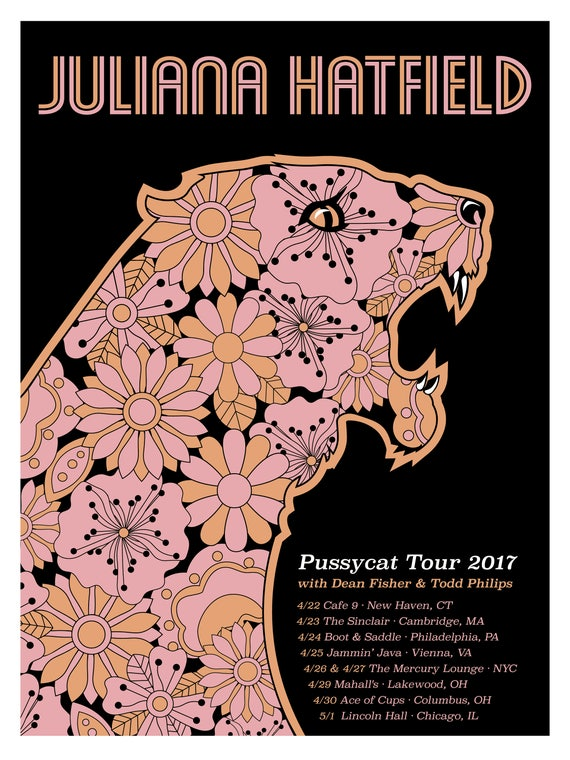 Juliana Hatfield Pussycat Tour Poster