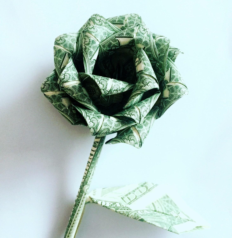 Money rose money flower origami rose dollar by ARTENJOYMENT - photo#22