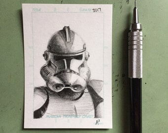 Clone Trooper Sketch Card