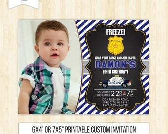 police invitation police party invitation policeman invitation boy birthday invitation police birthday invitation printable police badge 204